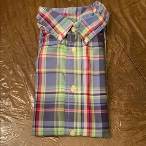 CHAPS boys button down short sleeves shirt size 7